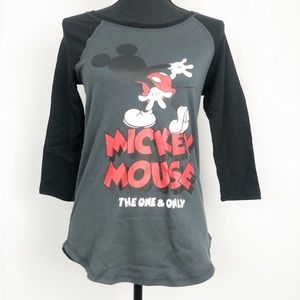 3/$20 Disney Mickey Mouse Graphic Raglan T Shirt